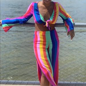 Multicolor 2 pc outfit